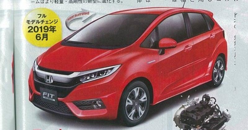 2019 Honda Jazz rendered - next-gen reportedly 30 kg lighter, to get a 1.0 litre turbo or hybrid ...