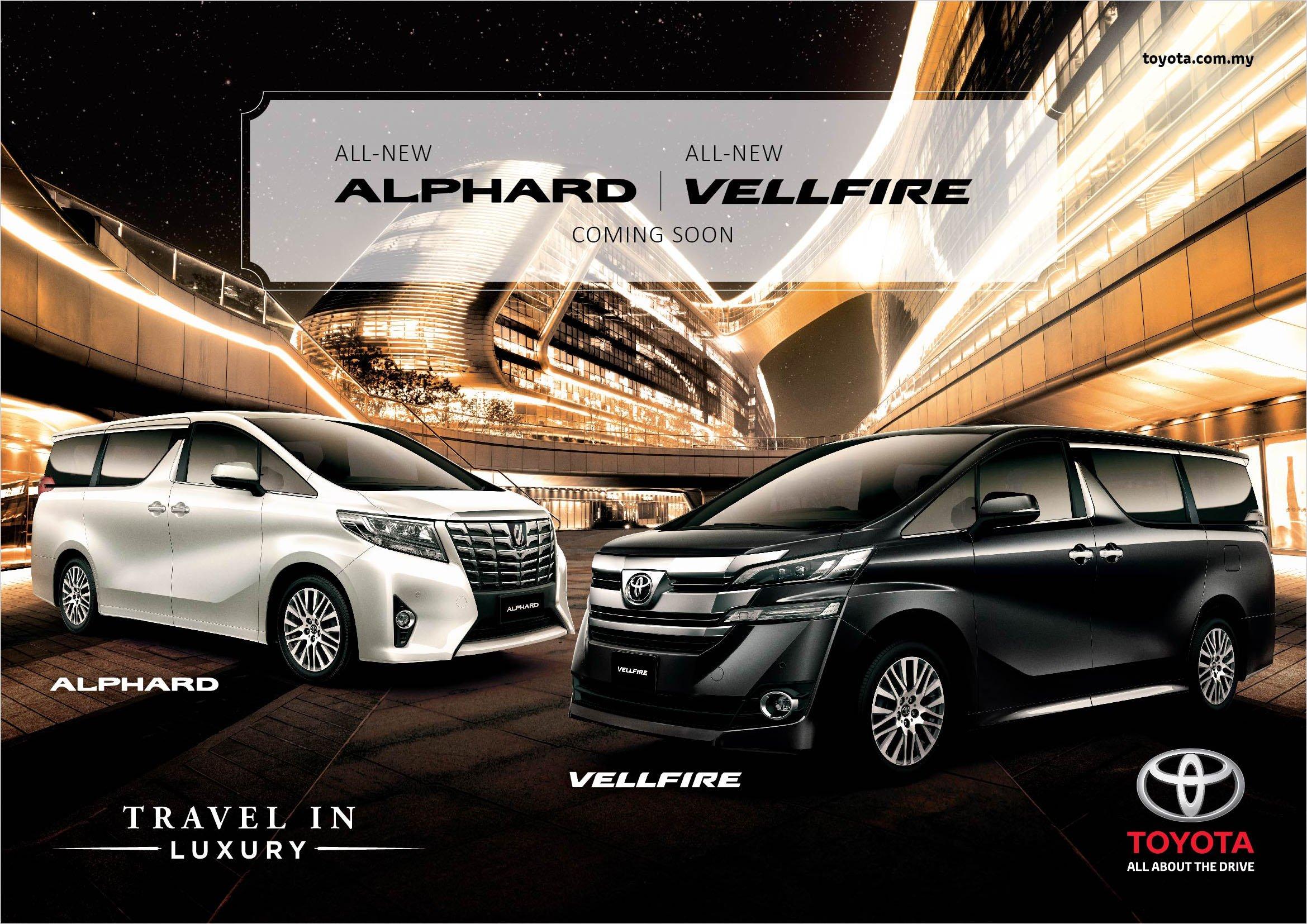 Toyota Vellfire 2.5, Alphard 3.5 dan 3.5 Executive Lounge