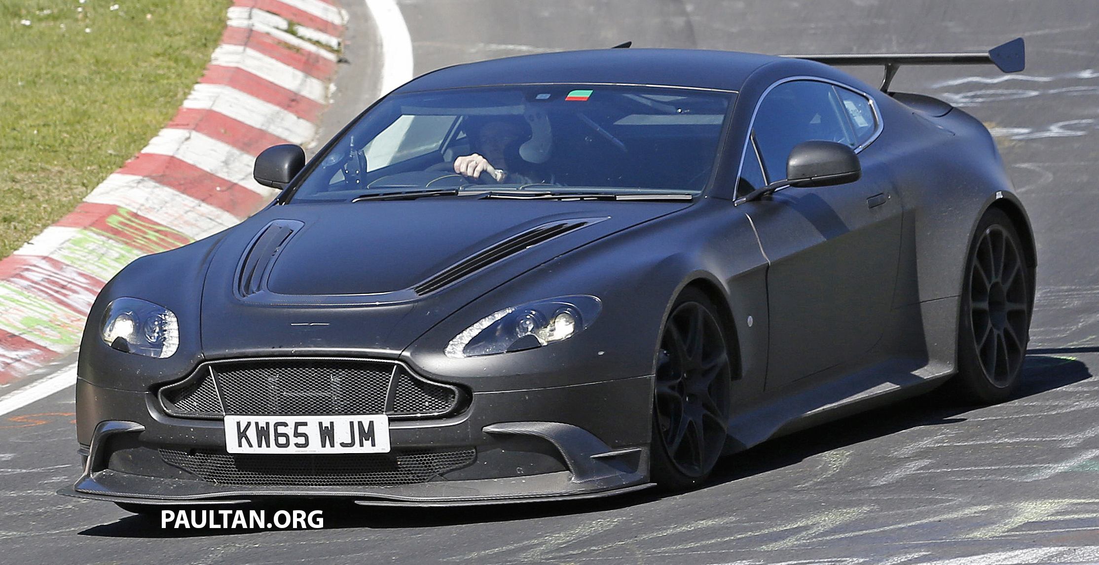 spied: aston martin vantage gt8 testing on track