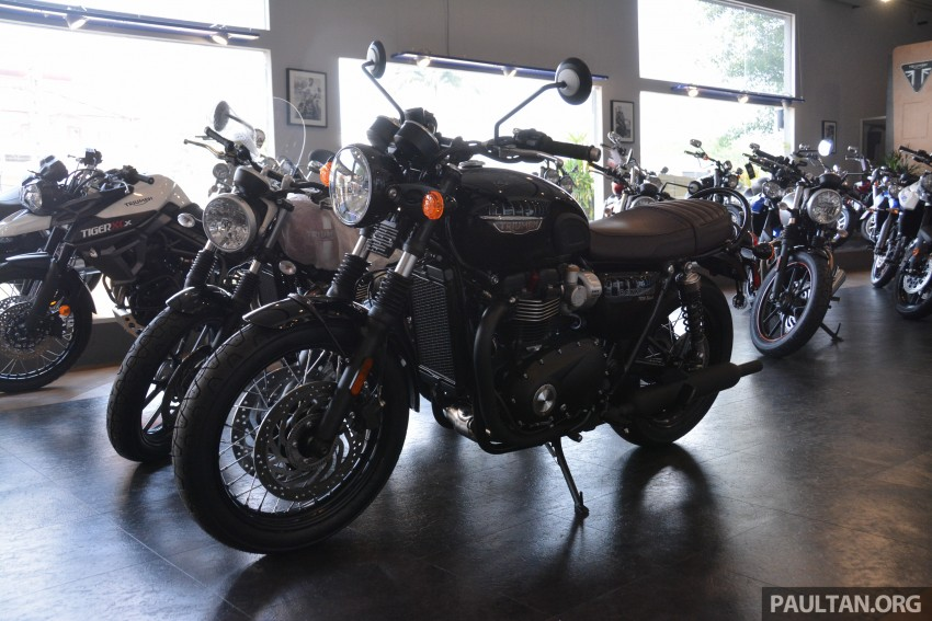 2016 Triumph Thruxton R (RM91,900) and Bonneville T120, T120 Black (RM79,900) arrive in Malaysia Image #474409