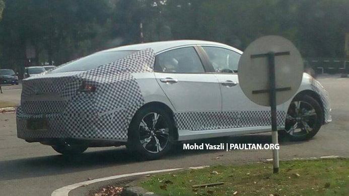 SPIED: 2016 Honda Civic 1.5 Turbo tested in Melaka Image #479459