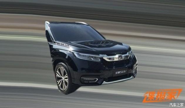 Honda UR-V spyshots 2-1