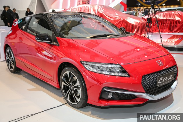 Launched Last Month In Indonesia The Facelifted Honda Cr Z Is Making An Earance At 2016 International Motor Show Which Opens To