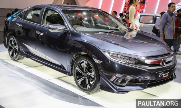 iims 2016 new honda civic launched 1 5l turbo only. Black Bedroom Furniture Sets. Home Design Ideas