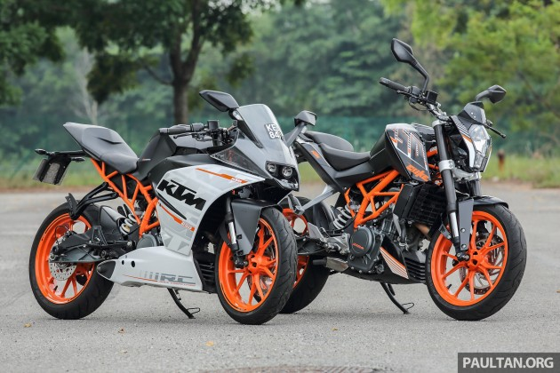 review 2016 ktm duke 250 and rc250 good handling and good looks at an entry level price. Black Bedroom Furniture Sets. Home Design Ideas