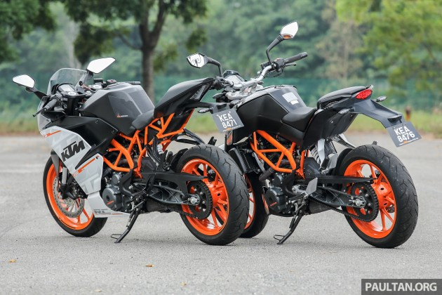 REVIEW: 2016 KTM Duke 250 and RC250 - good handling and