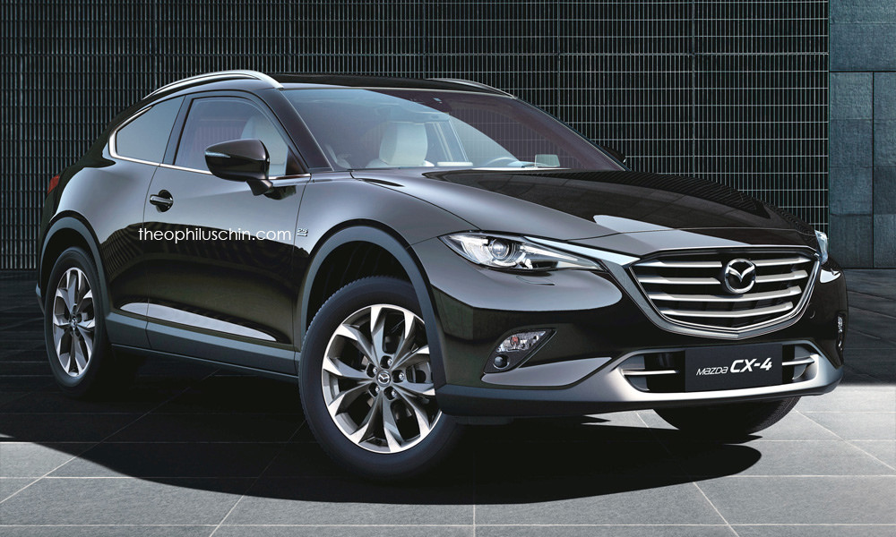 Mazda Cx 6 >> Mazda CX-4 rendered as a two-door coupe crossover