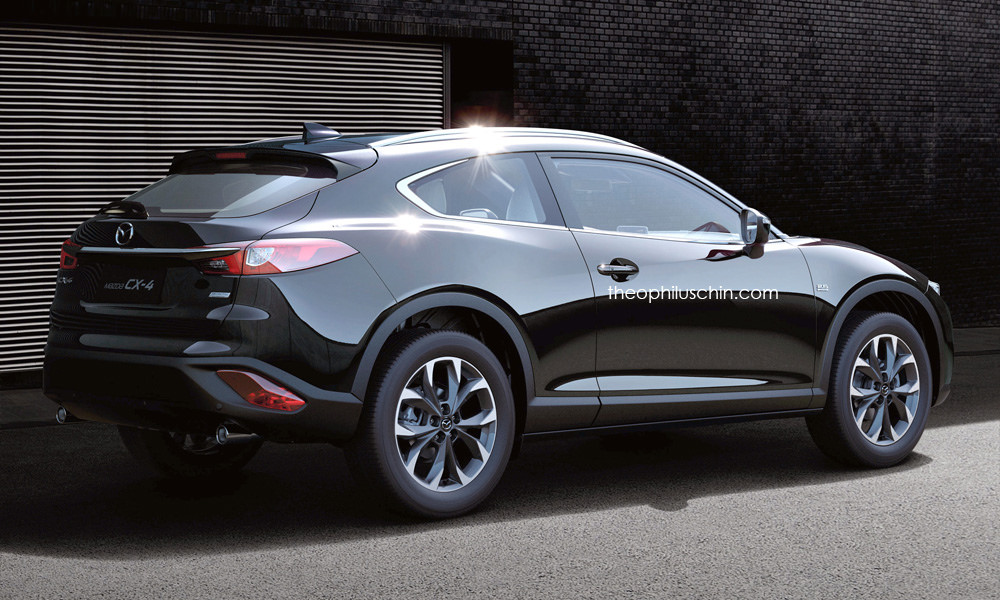 Mazda Cx 4 Rendered As A Two Door Coupe Crossover Image 485894