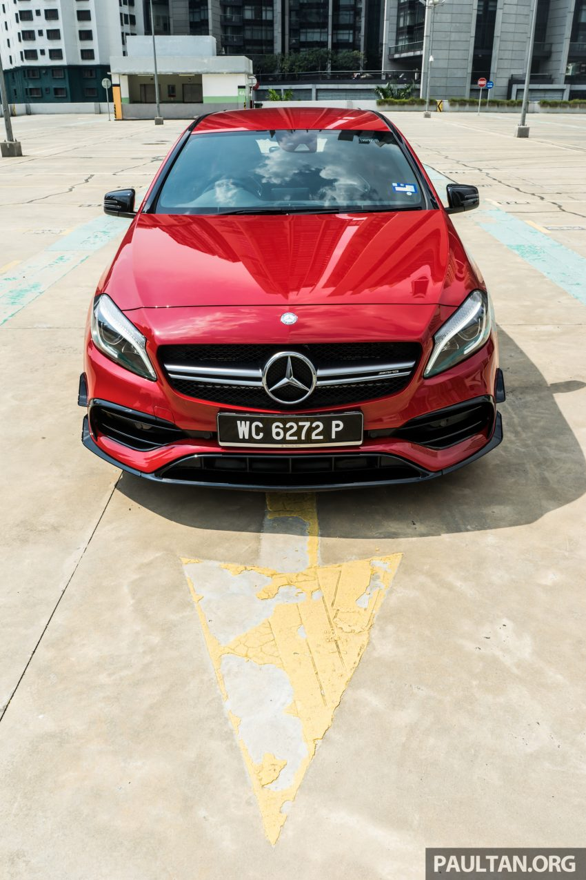 DRIVEN: 2016 Mercedes-AMG A45 – more everything Image #480737