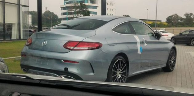 Mercedes-Benz C-Class Coupe spotted in Malaysia 2