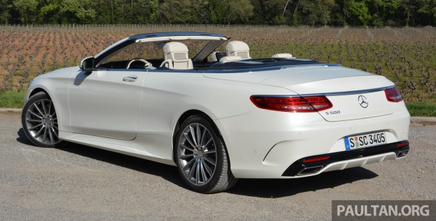 driven a217 mercedes benz s class cabriolet s500 and amg s63 4matic topless in the cote d 39 azur. Black Bedroom Furniture Sets. Home Design Ideas