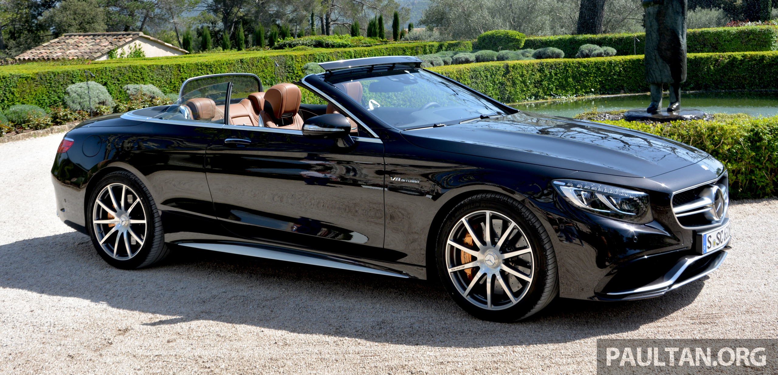 driven a217 mercedes benz s class cabriolet s500 and amg s63 4matic go topless in cote d azur. Black Bedroom Furniture Sets. Home Design Ideas