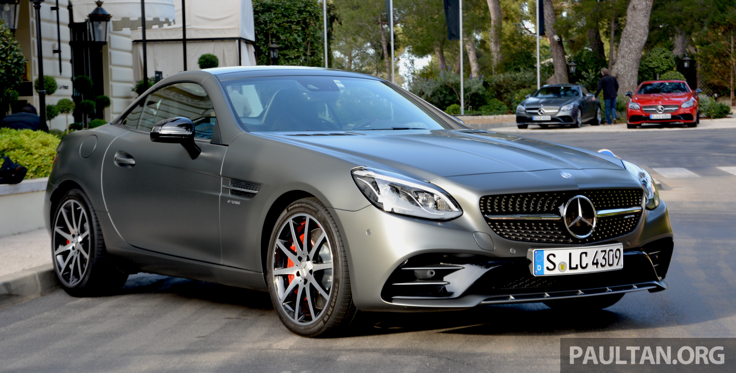Driven mercedes amg slc43 in the french riviera image 474507 for Nice mercedes benz