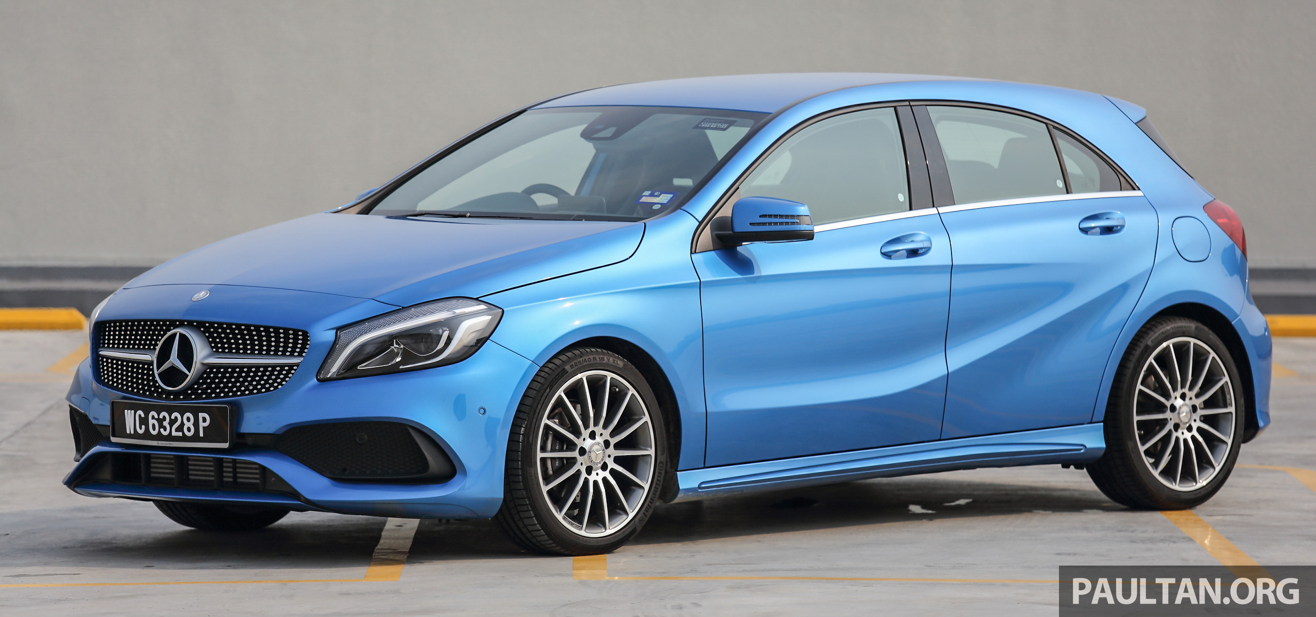 Pandu uji mercedes benz a 200 amg line facelift for Mercedes benz a service cost