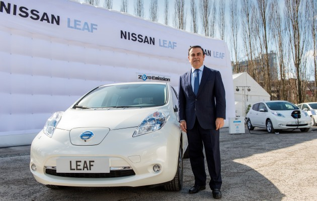 Nissan CEO Carlos Ghosn Visits Oslo the European Capital of Electric Vehicles