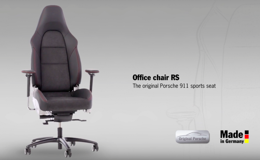 & VIDEO: Porsche 911 - u201coffice chair RSu201d sports seat