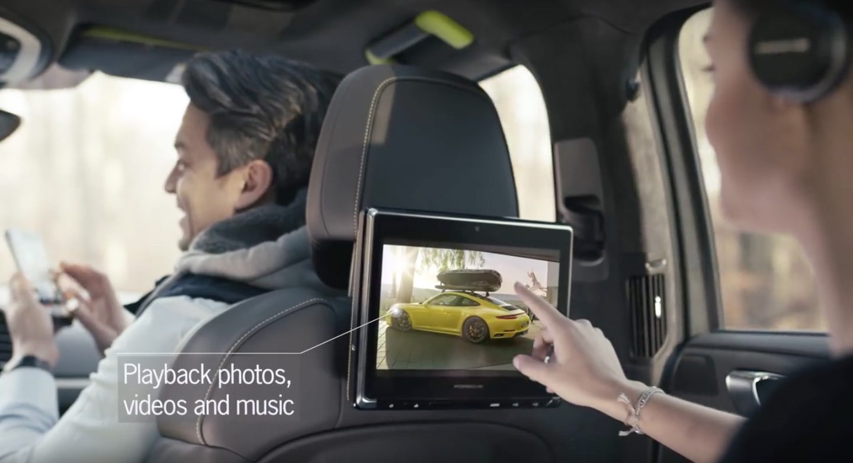 VIDEO: Porsche's new rear seat entertainment system