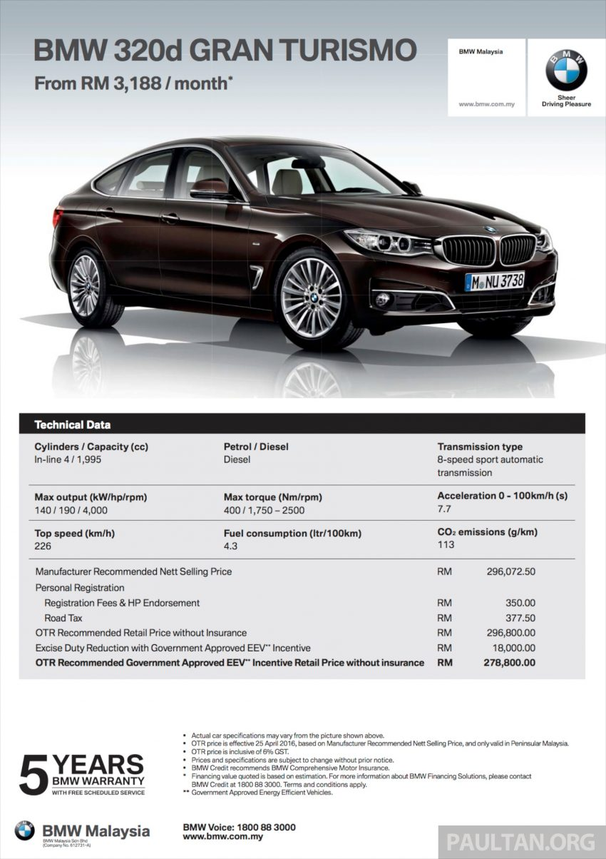 BMW 5 Series, X3 and 3 Series Gran Turismo get EEV status incentives – prices up to RM39,000 lower Image #483507