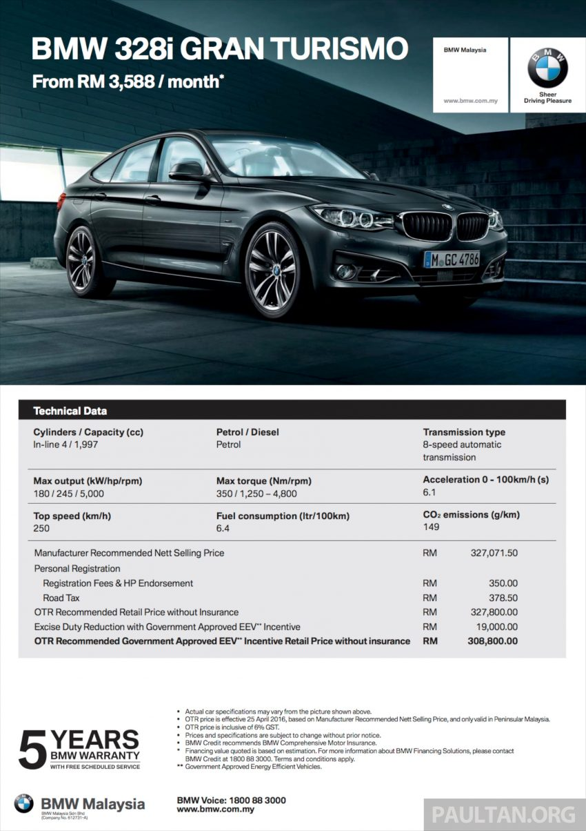 BMW 5 Series, X3 and 3 Series Gran Turismo get EEV status incentives – prices up to RM39,000 lower Image #483508