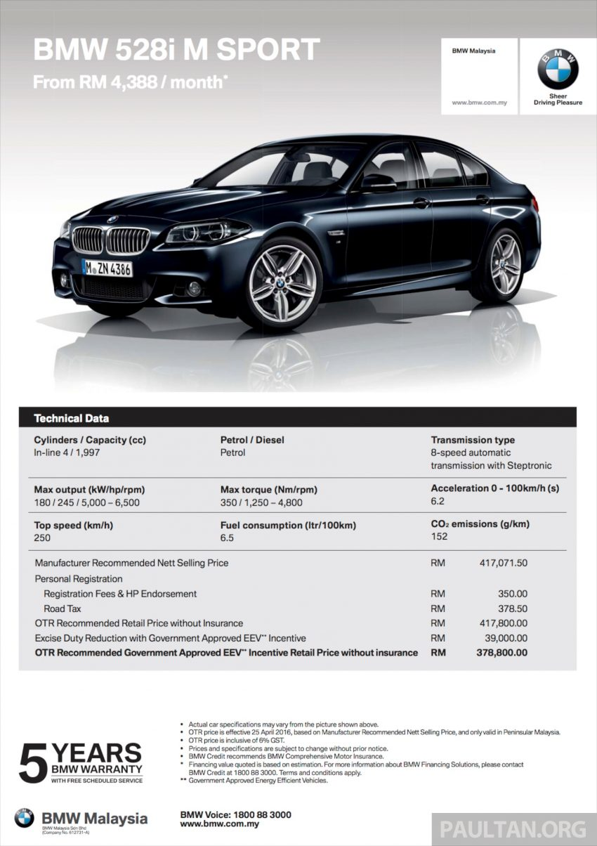 BMW 5 Series, X3 and 3 Series Gran Turismo get EEV status incentives – prices up to RM39,000 lower Image #483515
