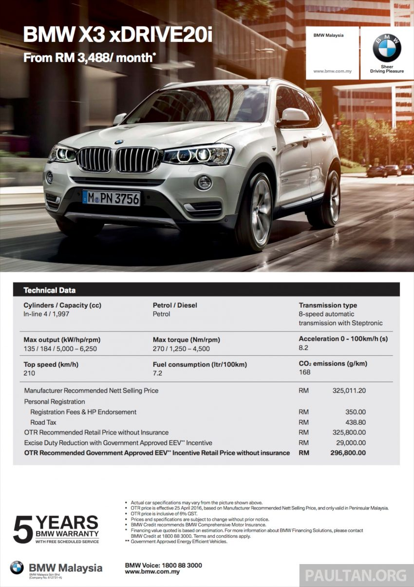 BMW 5 Series, X3 and 3 Series Gran Turismo get EEV status incentives – prices up to RM39,000 lower Image #483521