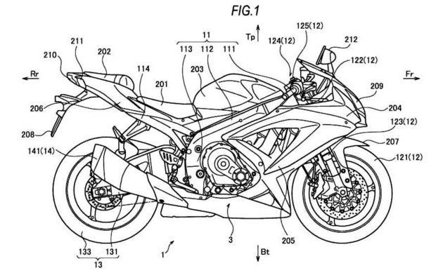 Suzuki turbo bike patent drawings1