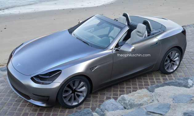 Tesla Model 3 Roadster Theo render