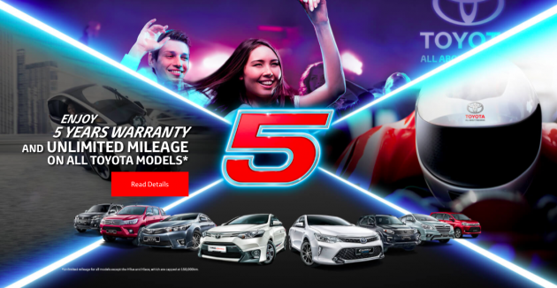 Toyota five year warranty