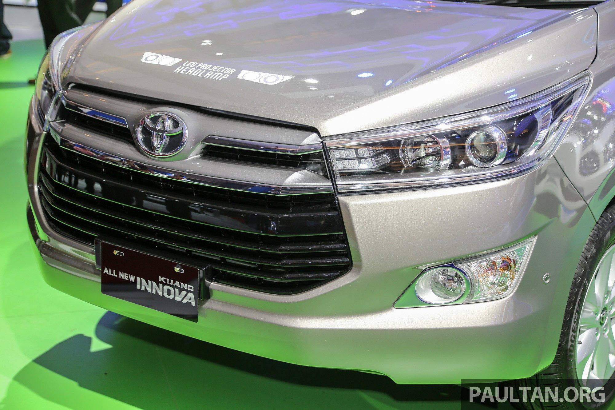 Iims 2016 New Toyota Innova 6 Seat Type Q Detailed