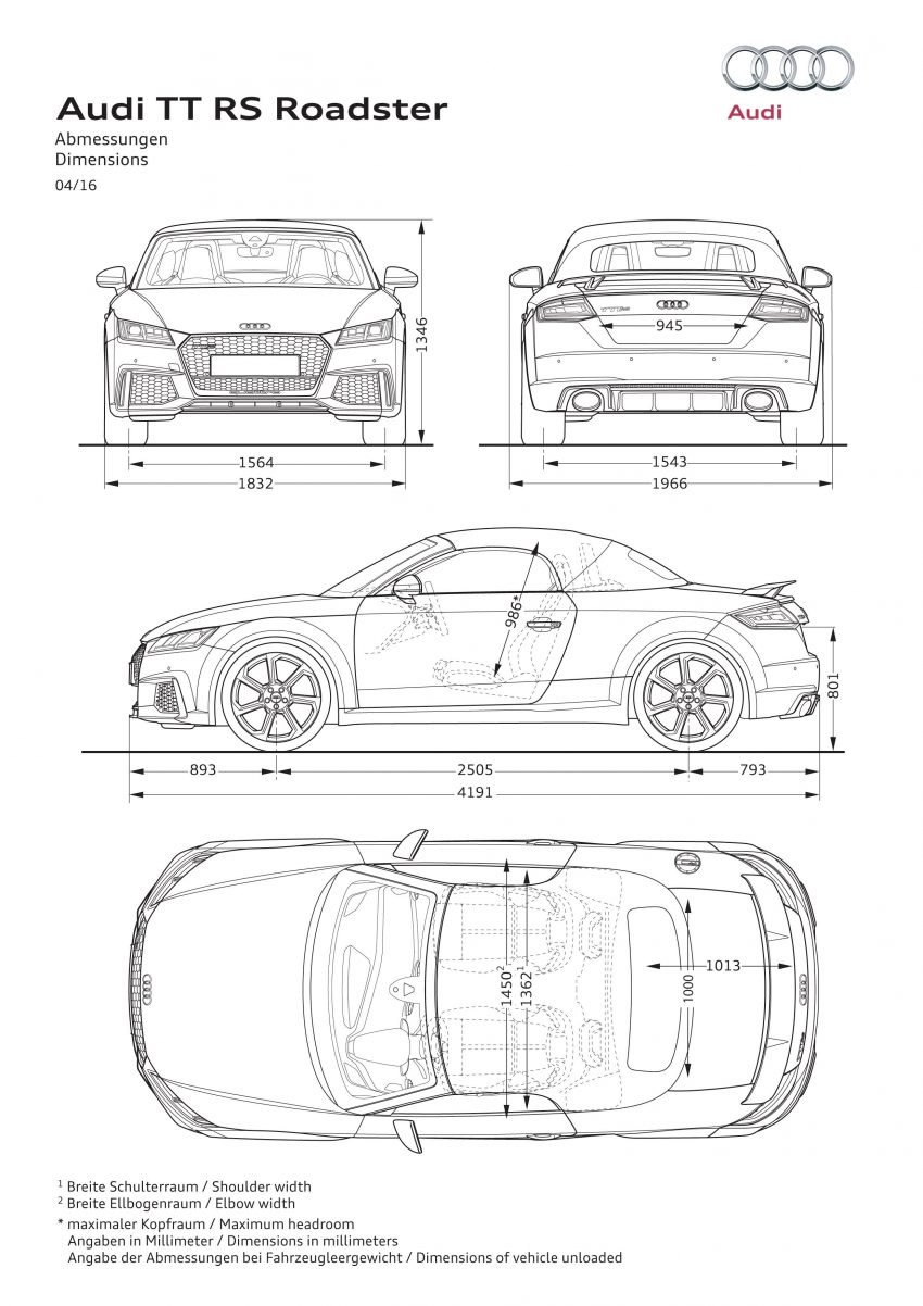 2016 Audi TT RS Coupe, Roadster debut with 400 hp Image #482855
