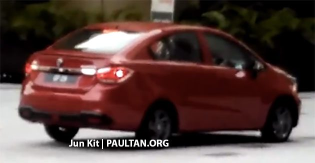 proton new car releaseSPIED 2016 Proton Persona  high spec variant seen