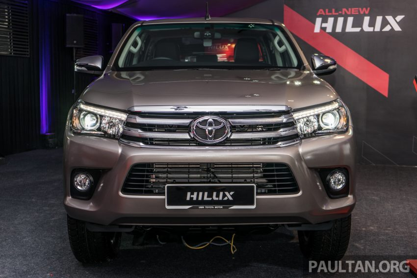 2016 Toyota Hilux makes its official debut in Malaysia – six variants, priced from RM90k to RM134k Image #488058