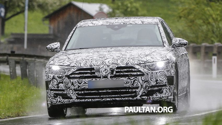 SPIED: 2017 Audi A8 spotted testing for the first time Image #493349