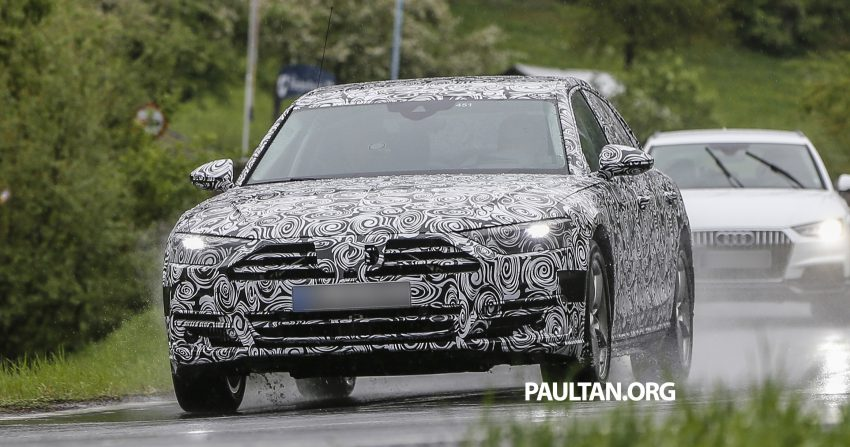 SPIED: 2017 Audi A8 spotted testing for the first time Image #493350