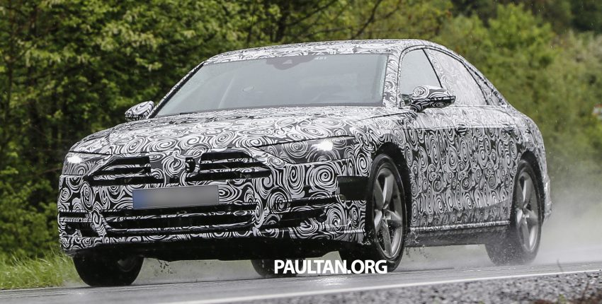 SPIED: 2017 Audi A8 spotted testing for the first time Image #493351