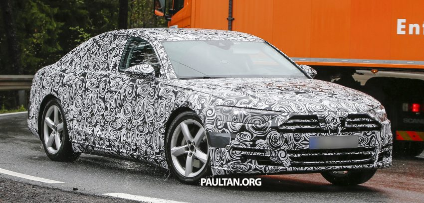 SPIED: 2017 Audi A8 spotted testing for the first time Image #493341