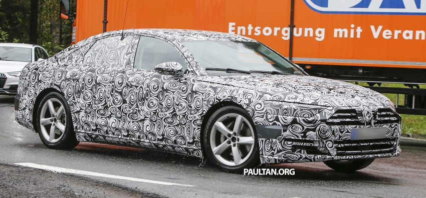 SPIED: 2017 Audi A8 spotted testing for the first time Image #493342