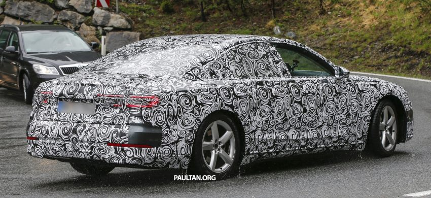 SPIED: 2017 Audi A8 spotted testing for the first time Image #493346