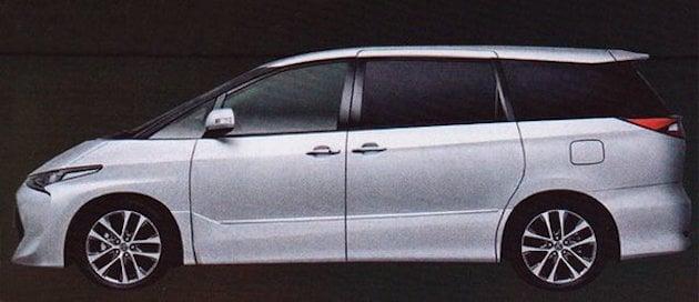 Toyota Previa Estima 2016 Facelift Foto Baharu Kabin