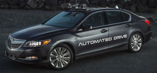 Second Generation Automated Acura RLX Development Vehicle