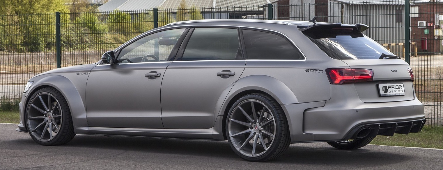 audi rs6 and a6 avant wide body kit by prior design image. Black Bedroom Furniture Sets. Home Design Ideas