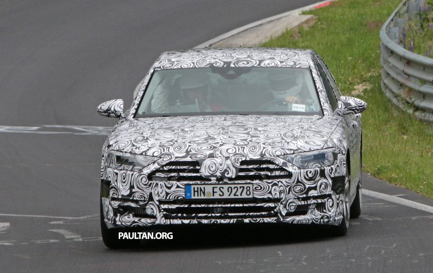 SPIED: 2017 Audi A8 spotted testing for the first time Image #508634