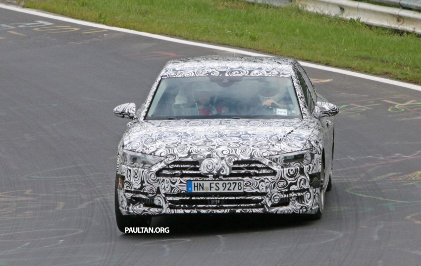 SPIED: 2017 Audi A8 spotted testing for the first time Image #508626