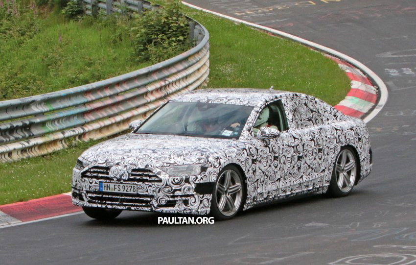 SPIED: 2017 Audi A8 spotted testing for the first time Image #508621