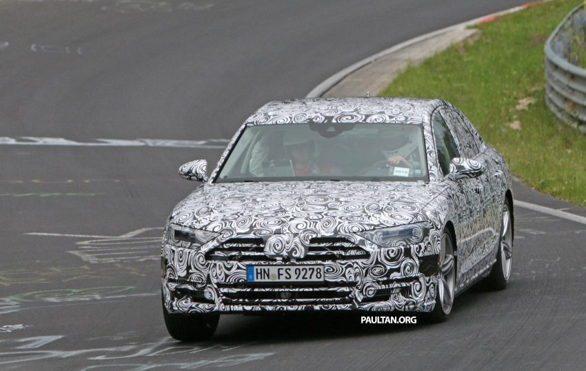 SPIED: 2017 Audi A8 spotted testing for the first time Image #508633