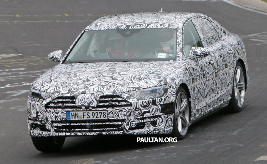 SPIED: 2017 Audi A8 spotted testing for the first time Image #508632