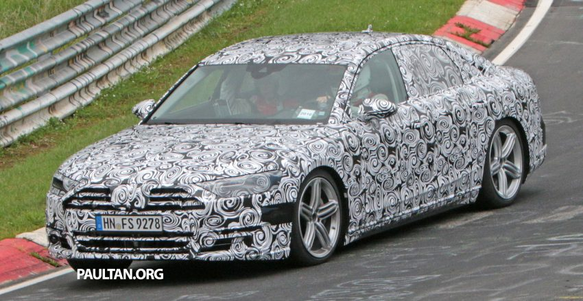 SPIED: 2017 Audi A8 spotted testing for the first time Image #508618