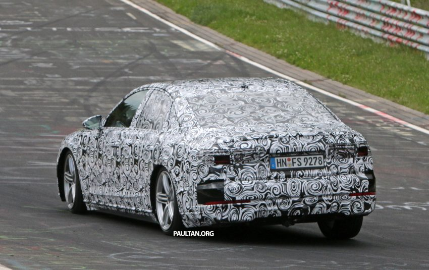 SPIED: 2017 Audi A8 spotted testing for the first time Image #508627