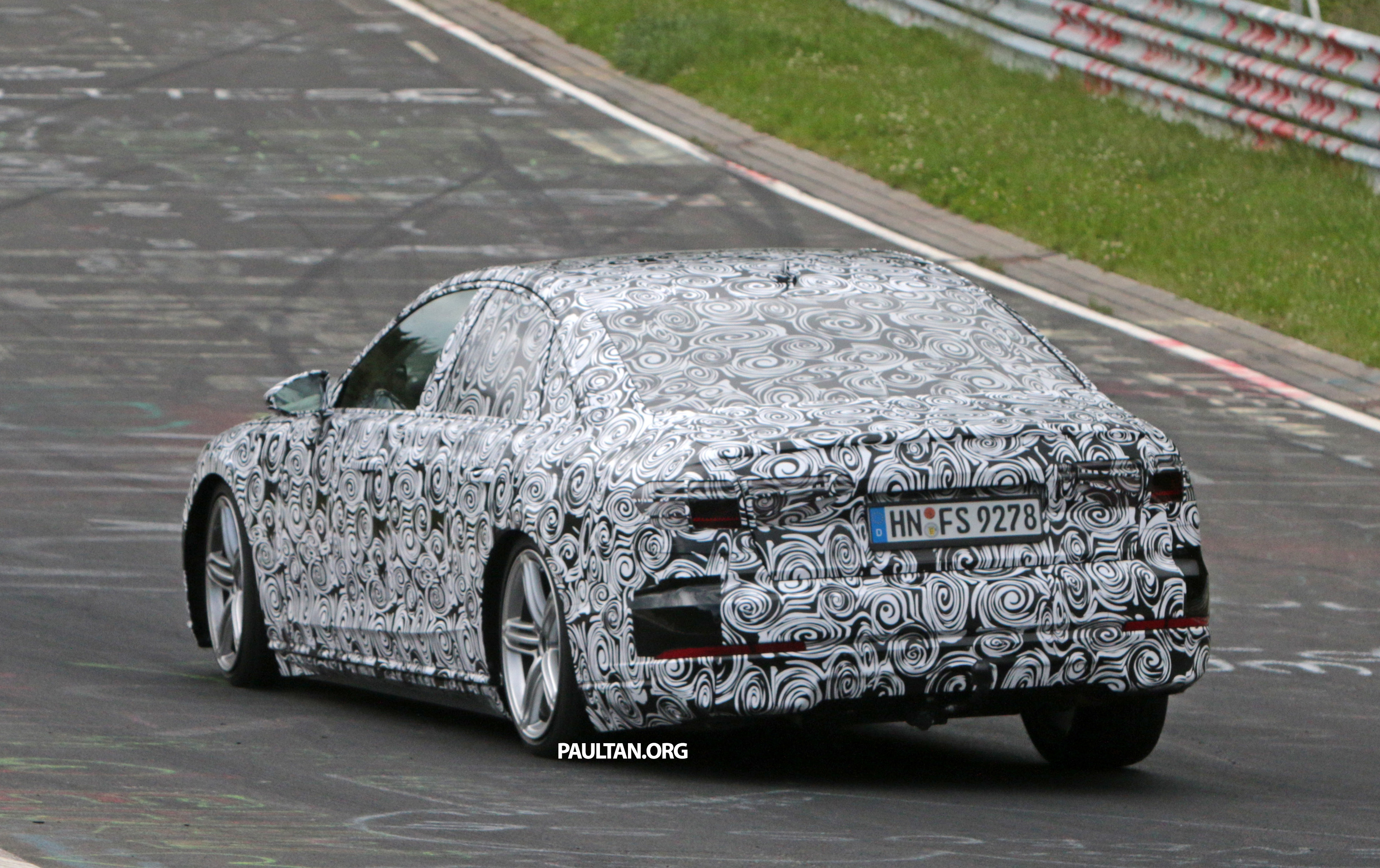 Spied 2017 Audi A8 Spotted Testing For The First Time