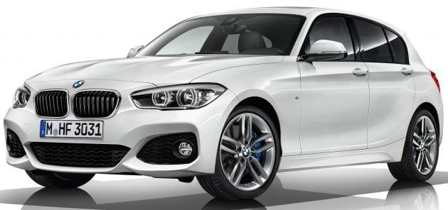 BMW 1 Series 2 Series 2017 MY update 3